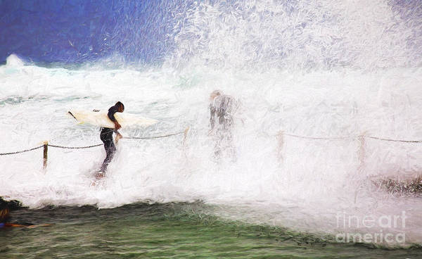 Surf Poster featuring the photograph Surfers at rockpool by Sheila Smart Fine Art Photography