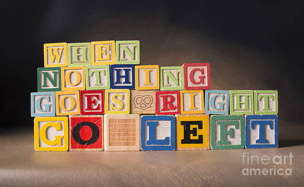 When Nothing Goes Right Go Left Poster featuring the photograph When Nothing Goes Right Go Left by Art Whitton