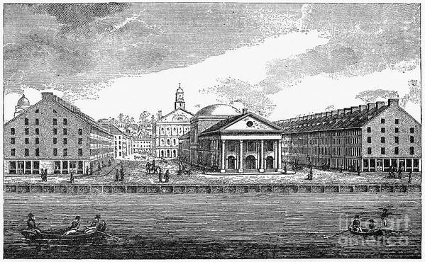 19th Century Poster featuring the photograph Boston: Quincy Market by Granger