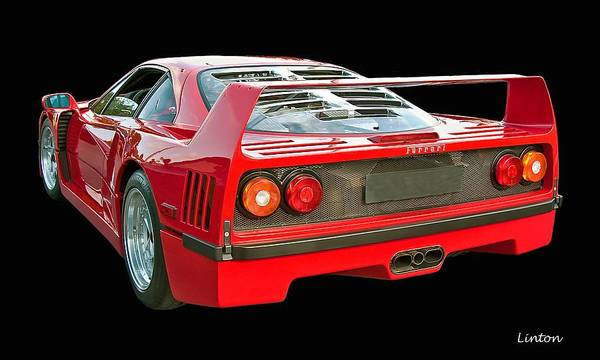 Ferrari F40 Poster featuring the photograph Spoiler 2 by Larry Linton