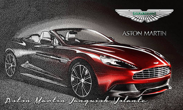 �wheels Of Fortune� Collection By Serge Averbukh Poster featuring the photograph Aston Martin Vanquish Volante by Serge Averbukh