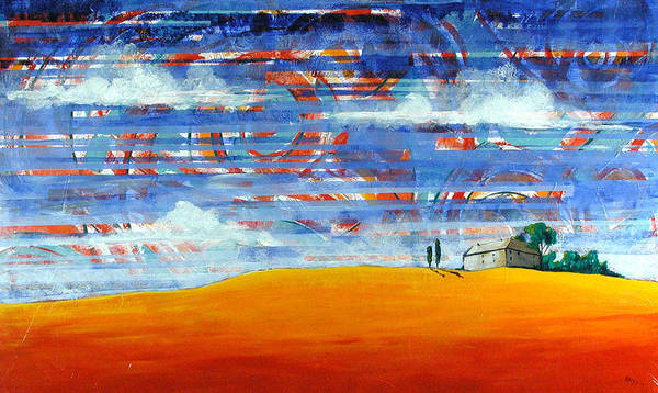 Landscape Poster featuring the painting Aurora by Rollin Kocsis