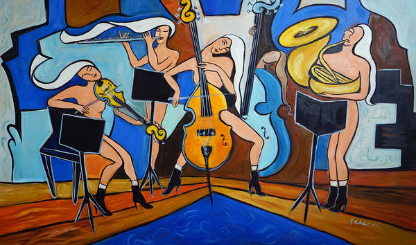 Music Poster featuring the painting Serenity by Valerie Vescovi