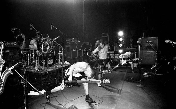 Rock Music Poster featuring the photograph Red Hot Chili Peppers London Astoria by Martyn Goodacre