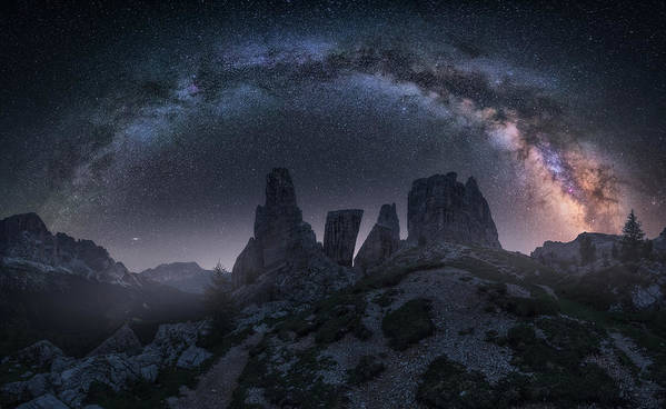 Milkyway Poster featuring the photograph Art Of Night II by Carlos F. Turienzo