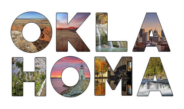 Oklahoma Poster featuring the photograph Oklahoma Typography II by Ricky Barnard