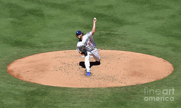 People Poster featuring the photograph Clayton Kershaw by Jayne Kamin-oncea
