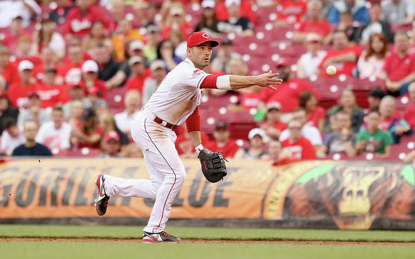 Great American Ball Park Poster featuring the photograph Joey Votto by Andy Lyons