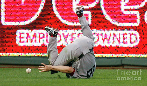 American League Baseball Poster featuring the photograph Alex Gordon and Josh Reddick by Ed Zurga