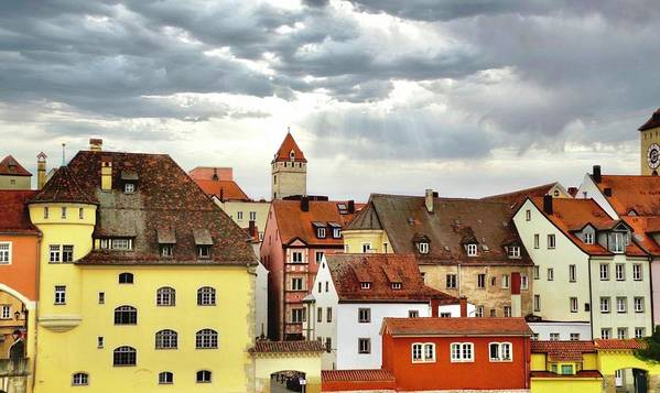 Regensburg Poster featuring the photograph Beautiful Regensburg by Kirsten Giving