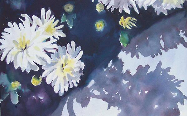 Chrysanthemum Poster featuring the painting Chrysanthemums by Philip Fleischer