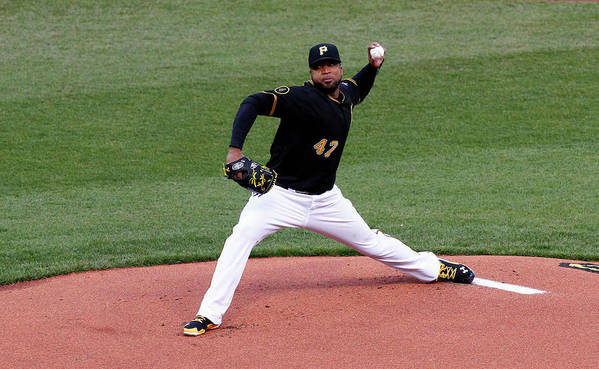 Professional Sport Poster featuring the photograph Francisco Liriano by Justin K. Aller