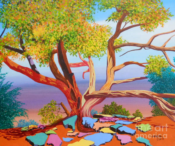 Tree Poster featuring the painting Tree of Life by Hugh Harris