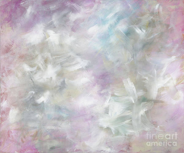Pink Poster featuring the painting Pink Cloud by Nadine Rippelmeyer