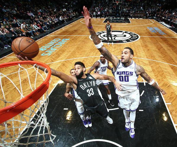 Nba Pro Basketball Poster featuring the photograph Allen Crabbe by Nathaniel S. Butler