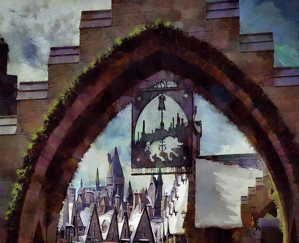 Hogsmeade Poster featuring the photograph Hogsmeade Entrance Archway by Cedric Hampton