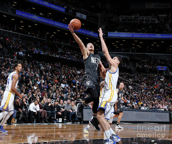Nba Pro Basketball Poster featuring the photograph Jeremy Lin and Klay Thompson by Nathaniel S. Butler