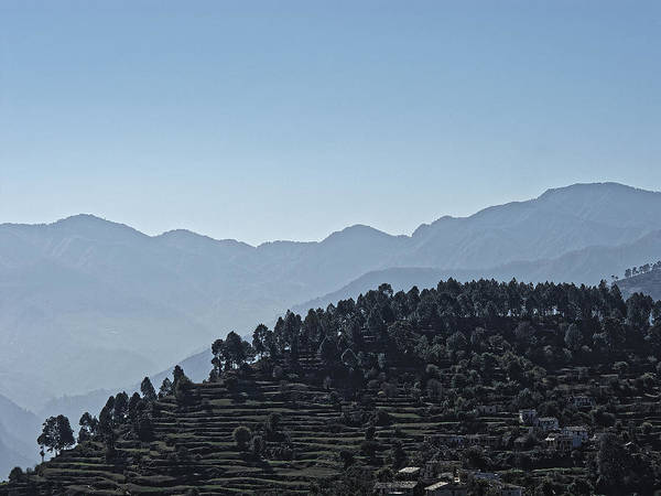 Landscape Poster featuring the photograph Hills Near Almora, Uttarakhand 2010 by Chris Honeyman