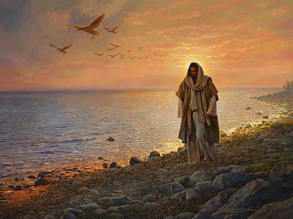 Jesus Poster featuring the painting In the World Not of the World by Greg Olsen