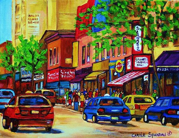 Cityscape Poster featuring the painting Saint Lawrence Street by Carole Spandau