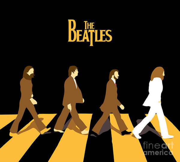 The Beatles Poster featuring the digital art The Beatles No.19 by Geek N Rock