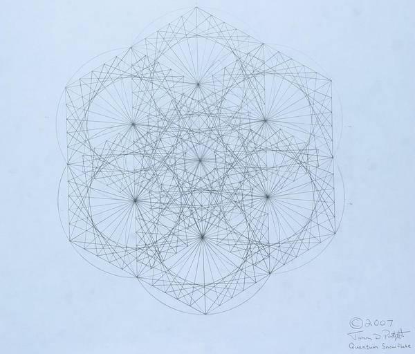 Jason Padgett Poster featuring the drawing Quantum Snowflake by Jason Padgett