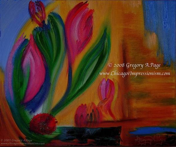 Flower Poster featuring the painting Expressionism I by Modern Impressionism