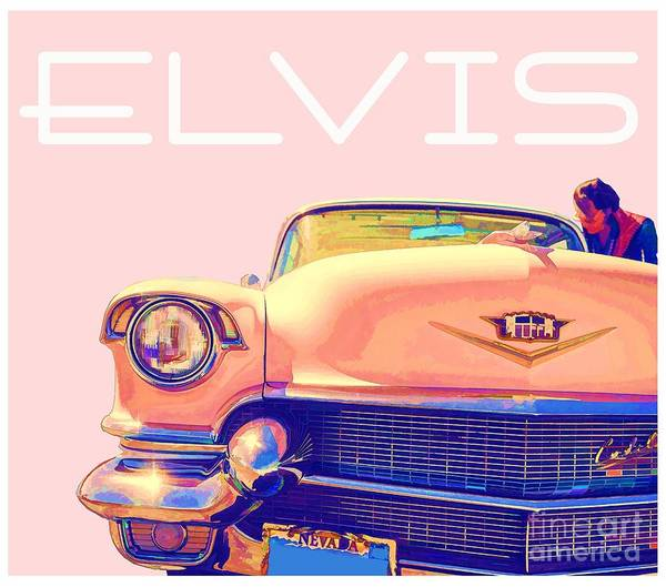Elvis Poster featuring the photograph Elvis Presley Pink Cadillac by Edward Fielding