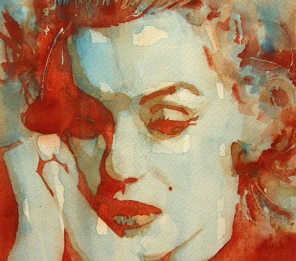 Marilyn Monroe Poster featuring the painting Fragile by Paul Lovering