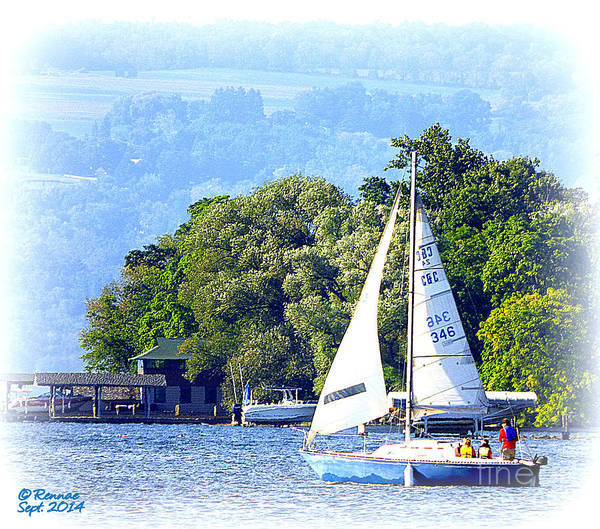 Waterscape Poster featuring the photograph On The Lake by Rennae Christman