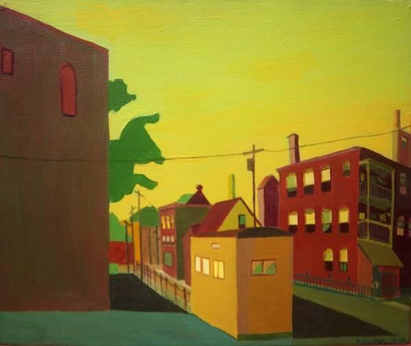 Jamaica Plain Poster featuring the painting Amory Street Jamaica Plain by Debra Bretton Robinson