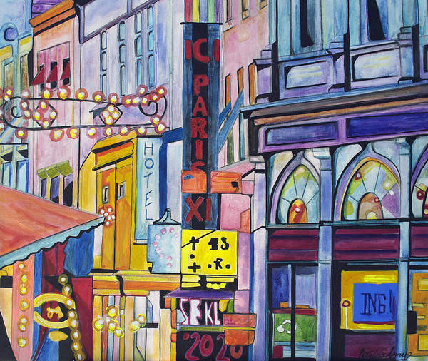 Cityscape Poster featuring the painting Colors of Paris by Patricia Arroyo