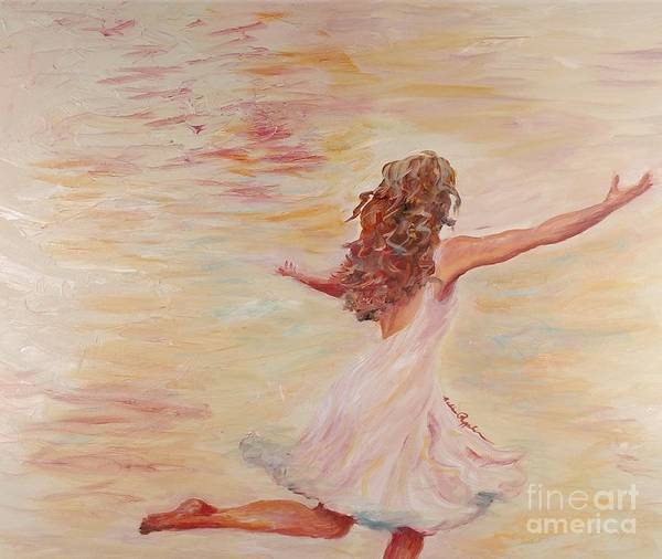 Dance Poster featuring the painting In Him We Live by Nadine Rippelmeyer