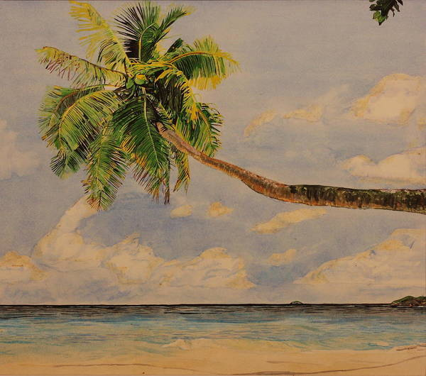 Palm Tree Poster featuring the painting Palm Tree by Michelle Miron-Rebbe