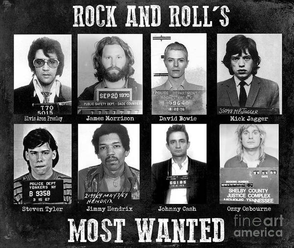Rock And Rolls Most Wanted Poster featuring the photograph Rock and Rolls Most Wanted by Jon Neidert