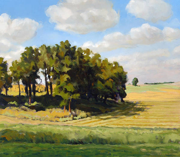 Landscape Poster featuring the painting September Summer by Bruce Morrison