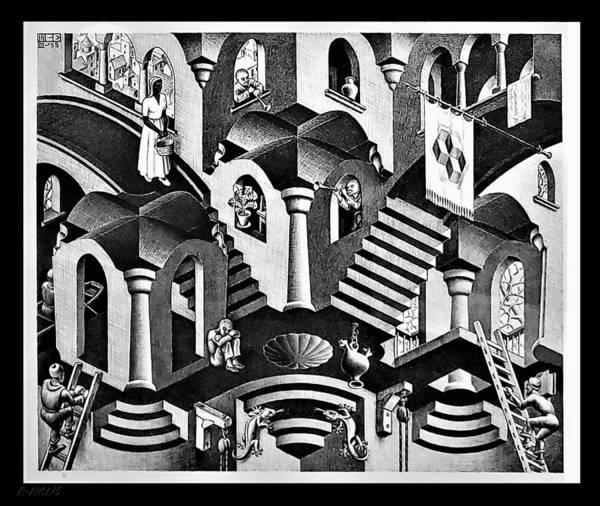 Maurits Cornelis Escher Poster featuring the photograph Escher 135 by Rob Hans