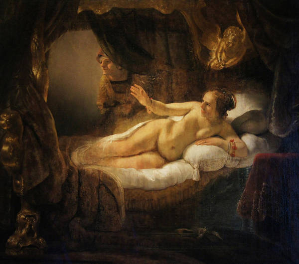 """""""danae"""" 1636 Poster featuring the painting Danae by Rembrandt"""