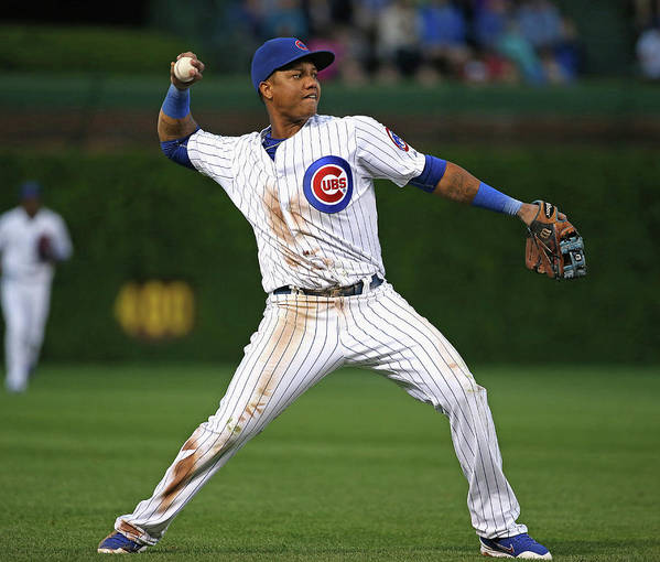 People Poster featuring the photograph Starlin Castro by Jonathan Daniel