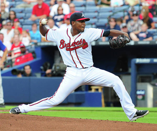 Atlanta Poster featuring the photograph Julio Teheran by Scott Cunningham