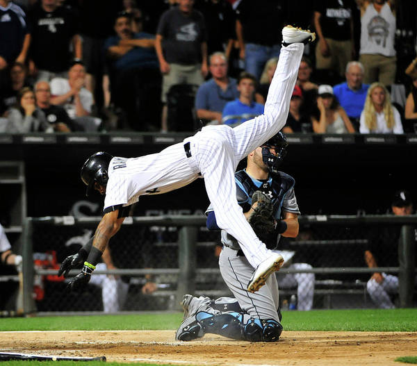 Ninth Inning Poster featuring the photograph Alexei Ramirez by David Banks