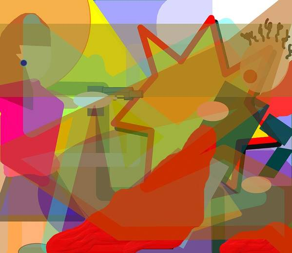 Abstract Poster featuring the digital art Assassin by Pharris Art