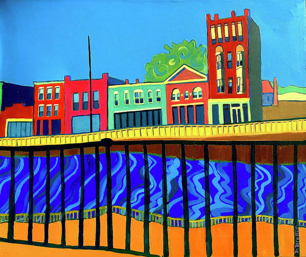 Cityscape Poster featuring the painting Dutton Street by Debra Bretton Robinson