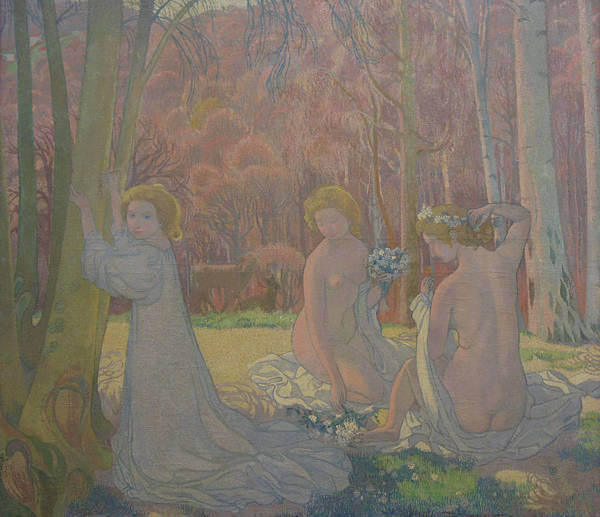 The Art Of Japan Poster featuring the painting Figures in a Spring Landscape by Maurice Denis