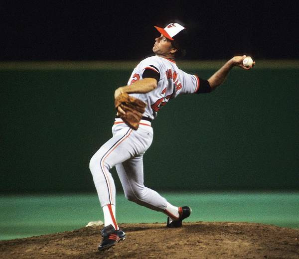 1980-1989 Poster featuring the photograph Jim Palmer by Ronald C. Modra/sports Imagery