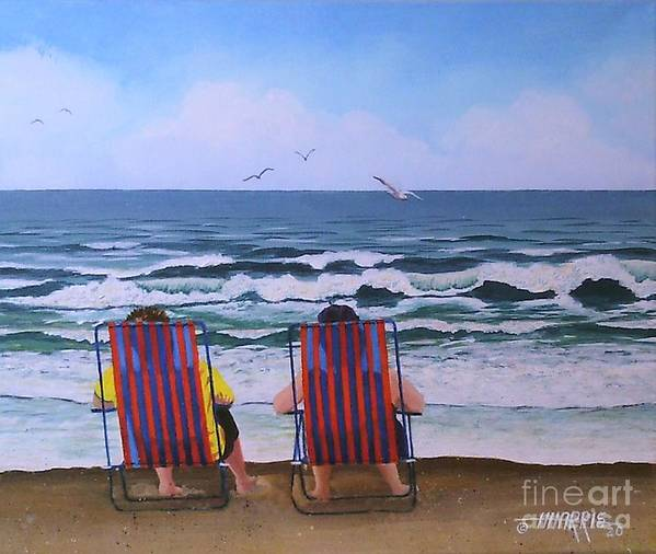 Beach Poster featuring the painting Summer Chillin' by Hugh Harris