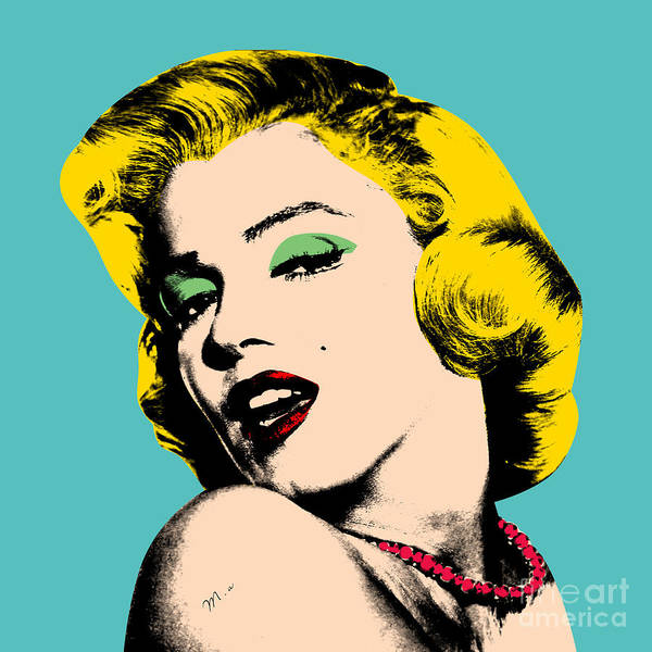 Pop Art Poster featuring the digital art Andy Warhol by Mark Ashkenazi