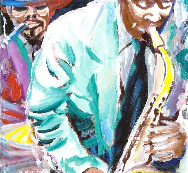 Jazz Poster featuring the painting Jazz Jam 1940's by Jonathan Tyson