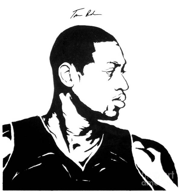 Dwyane Wade Poster featuring the painting Wade by Tamir Barkan