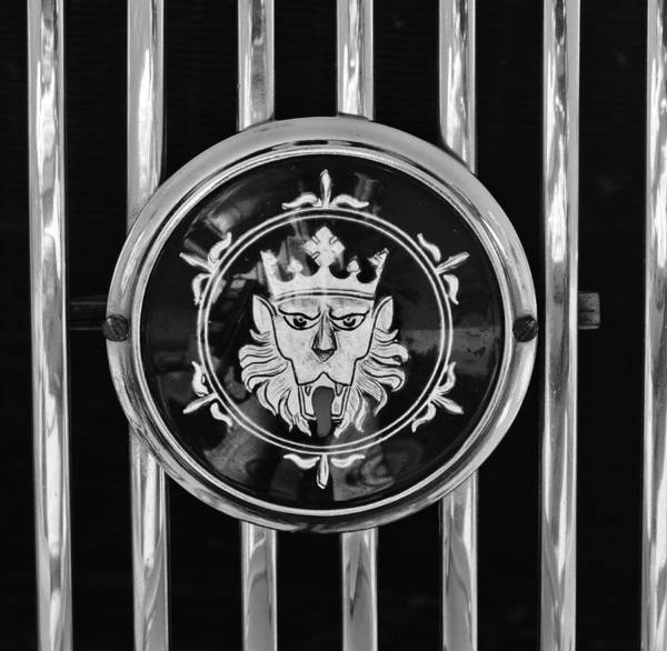 1969 Morgan Roadster Grille Emblem Poster featuring the photograph 1969 Morgan Roadster Grille Emblem 3 by Jill Reger